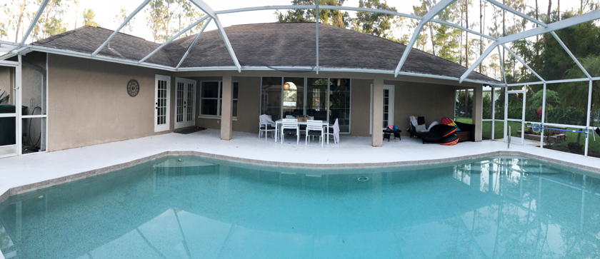screened in lanai with pool makeover - before