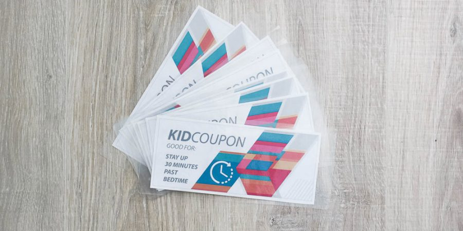 Kid coupons - free reward ideas when kids are home for the summer