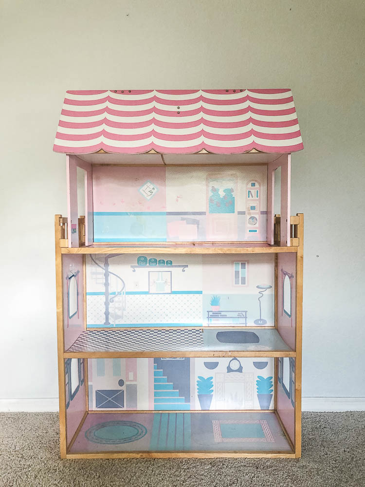 Barbie doll house makeover before