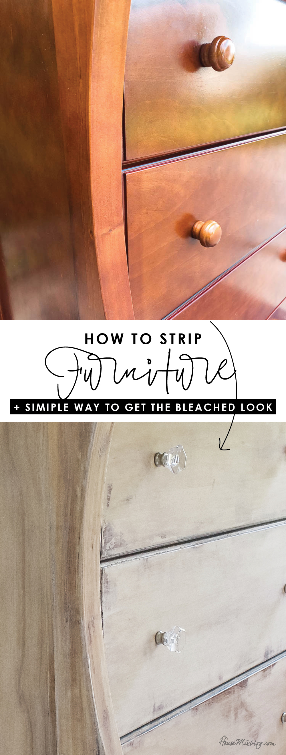 How to strip furniture and the secret ingredient to that bleached wood look