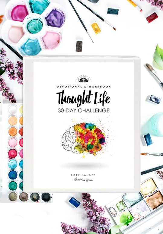 Thought Life 30 Day Challenge devotional and workbook - PRINTABLE bible study with brain exercises to replace anxiety with gratitude fear with hope and negativity with joy - housemixblog.com