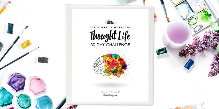Thought life 30 day challenge devotional and workbook- PRINTABLE - horizontal