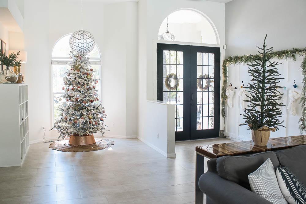 Christmas decor - blush and gold - holiday home tour - Walmart, Target