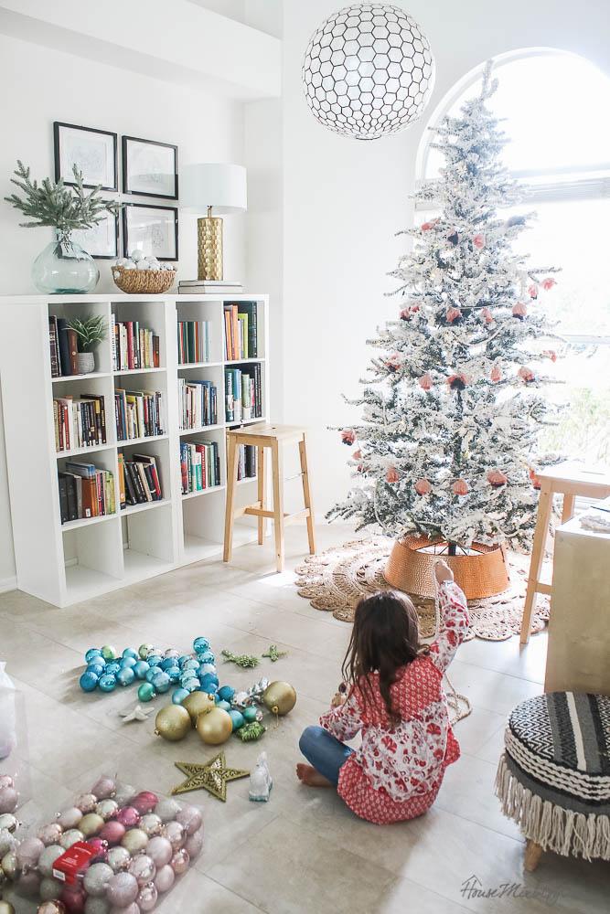 Christmas decor - blush and gold - holiday home tour - Walmart, Target-60