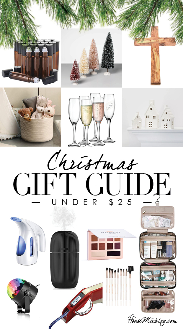 Christmas gift guide under $25 - inexpensive cheap presents ideas for mom, sister, friend, party, neighbor, host gift, thoughtful - affordable gift guide
