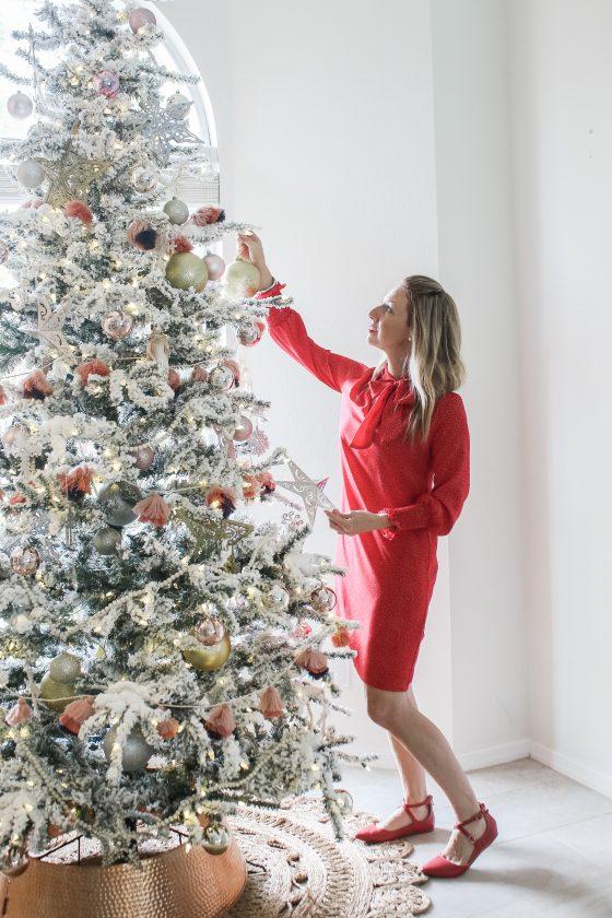 Christmas decor home tour: Blush & gold