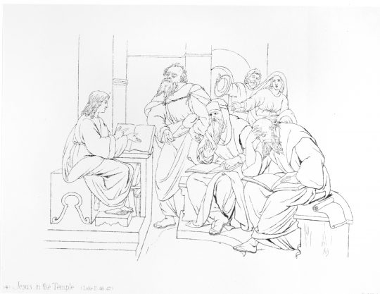 Jesus manger sketch printable - Christmas art