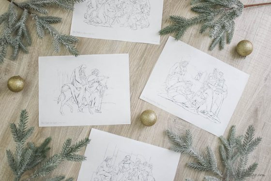 Free Christmas art: Life of Jesus