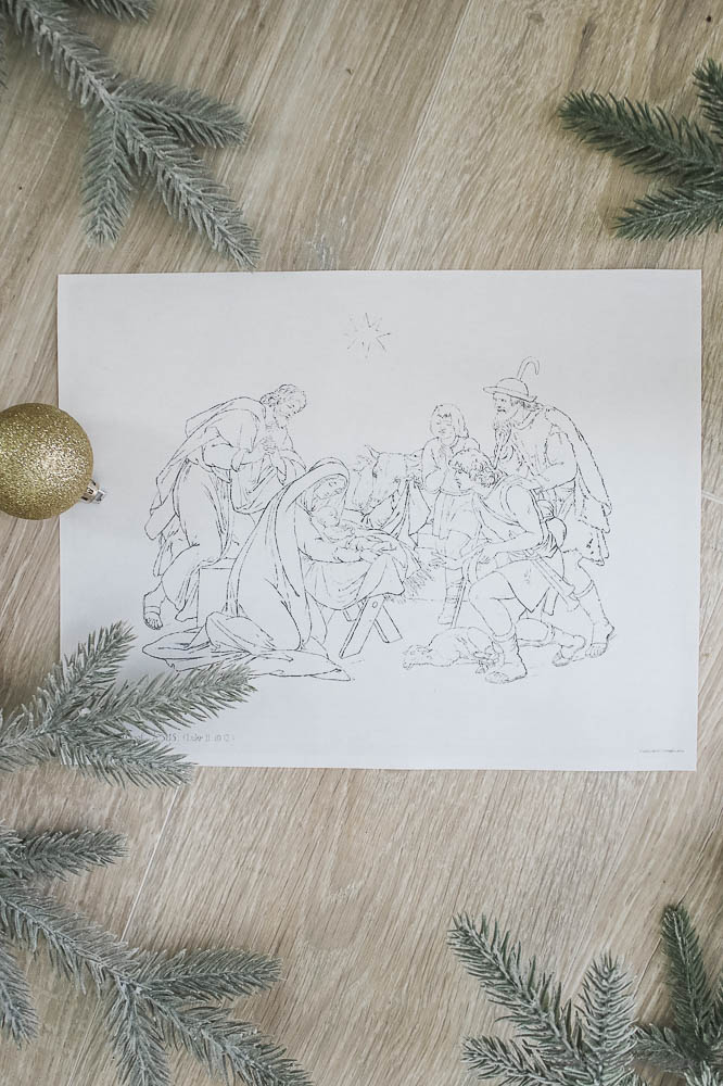 Jesus manger printables - Free and cheap Christmas decor - Holiday art