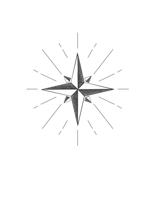 North star free printable - Free Christmas art