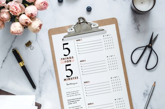 Get organized! 5 things for 5 min