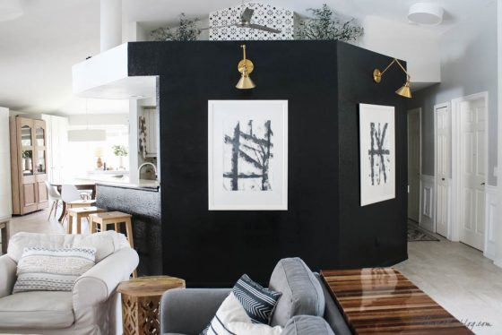 I painted my living room wall black!