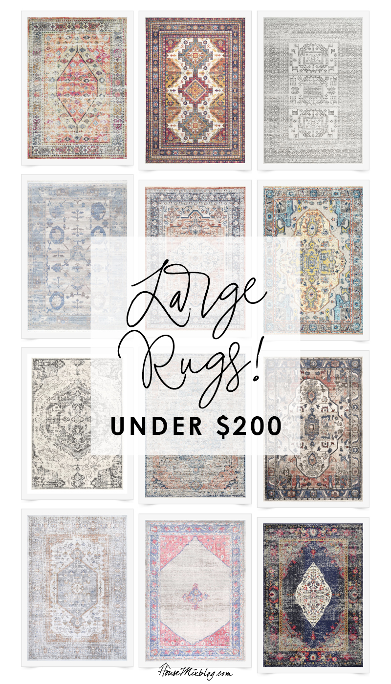 Large rugs under $200