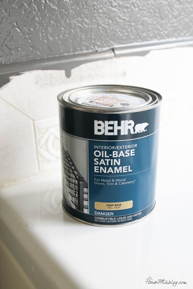 Oil base paint for tile - how to paint bathroom tile
