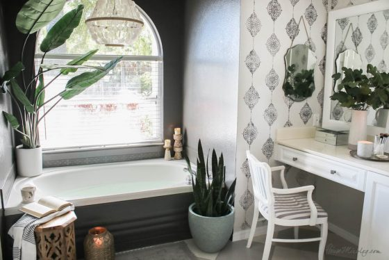 How to paint bathroom tile: floor, shower, backsplash