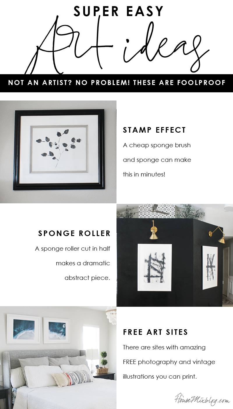Super simple foolproof art ideas - stamping, rolling and free photos and vintage illustrations to print