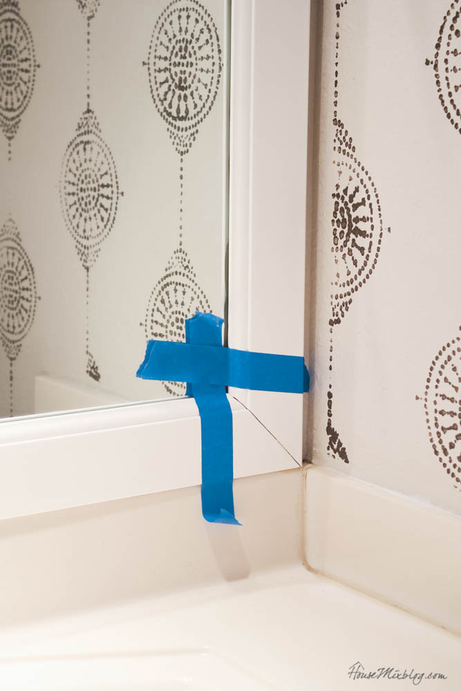 How to frame a bathroom builder grade mirror