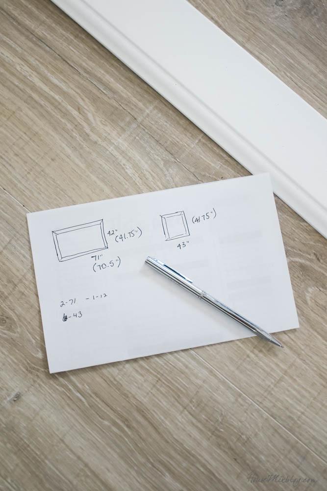 How to frame a bathroom builder grade mirror