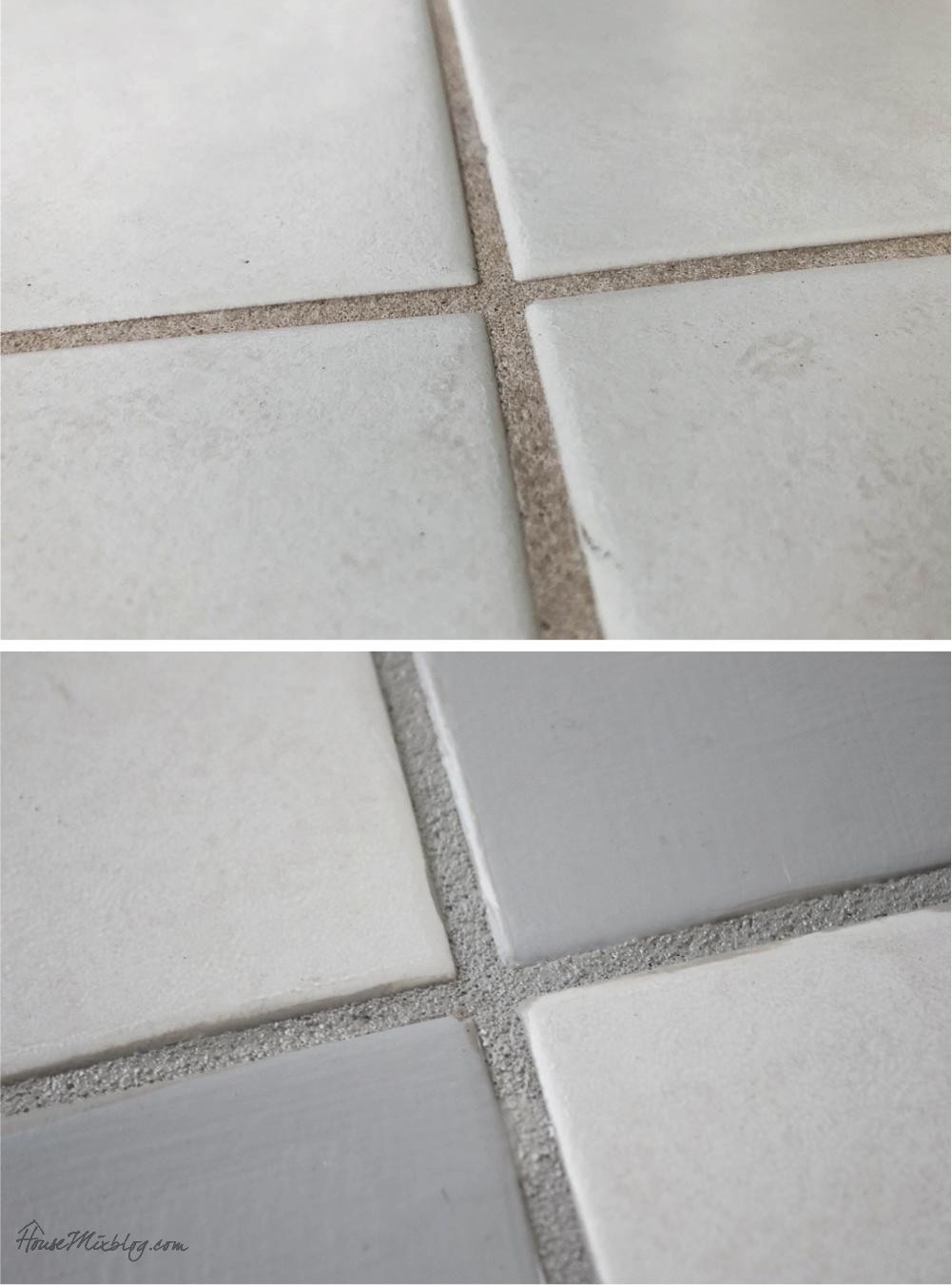 How to paint bathroom floor tile and grout