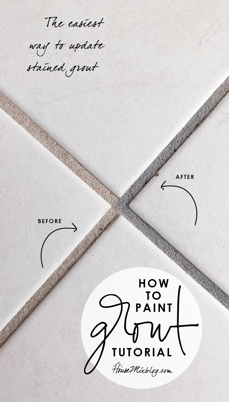 How to paint grout - the easiest way to update stained and dirty grout lines