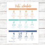 At home kid schedule printable