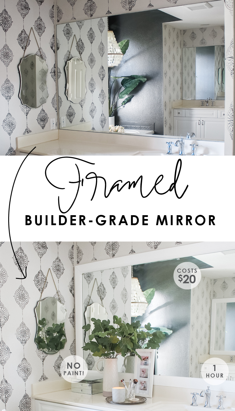The easiest way to frame a mirror - no paint, 1 hour, 20 dollars