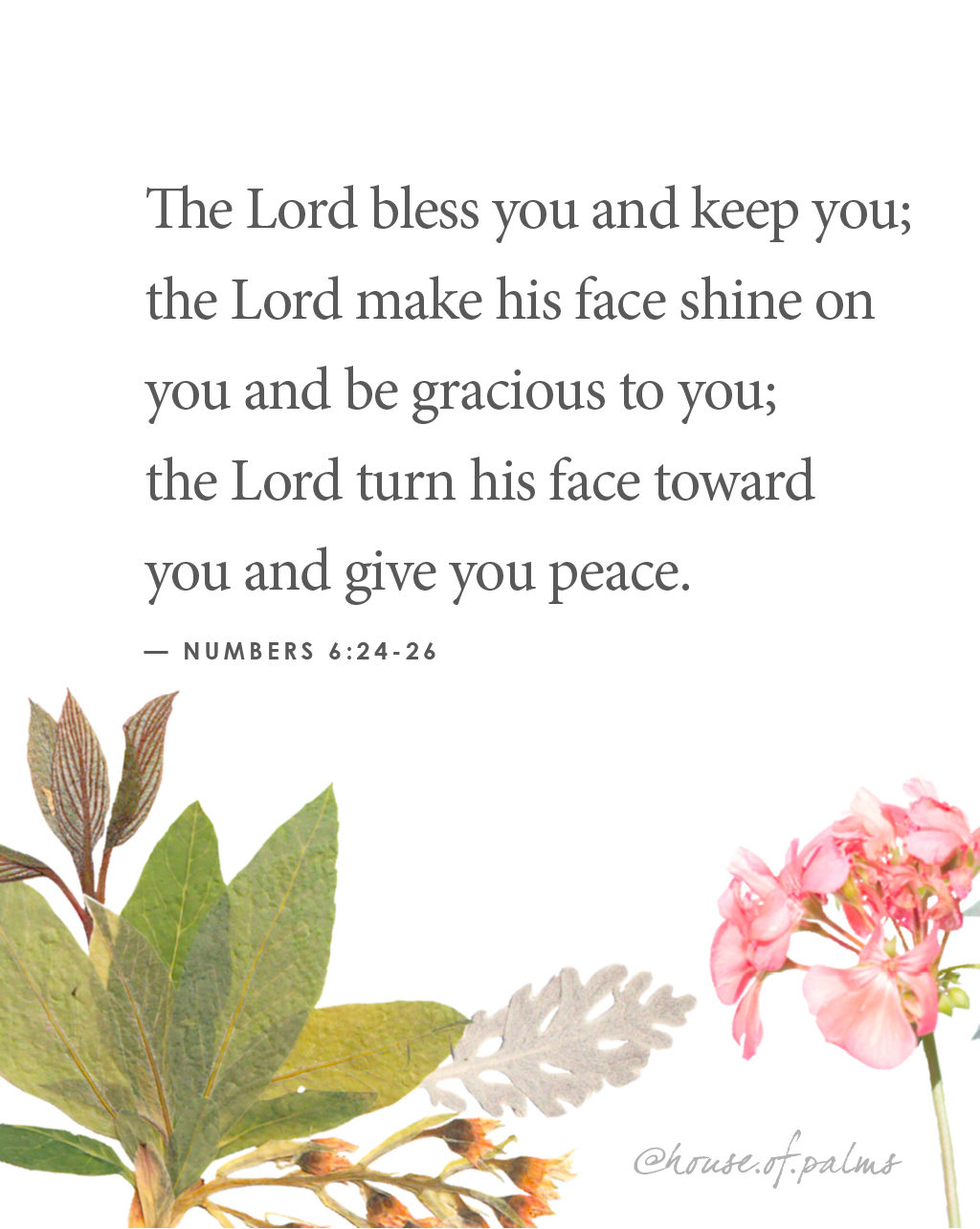 may the lord bless and keep you - benediction