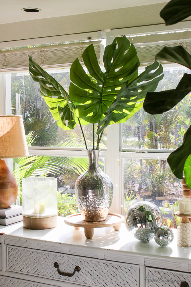 8 great faux plants and stems- palm leaves