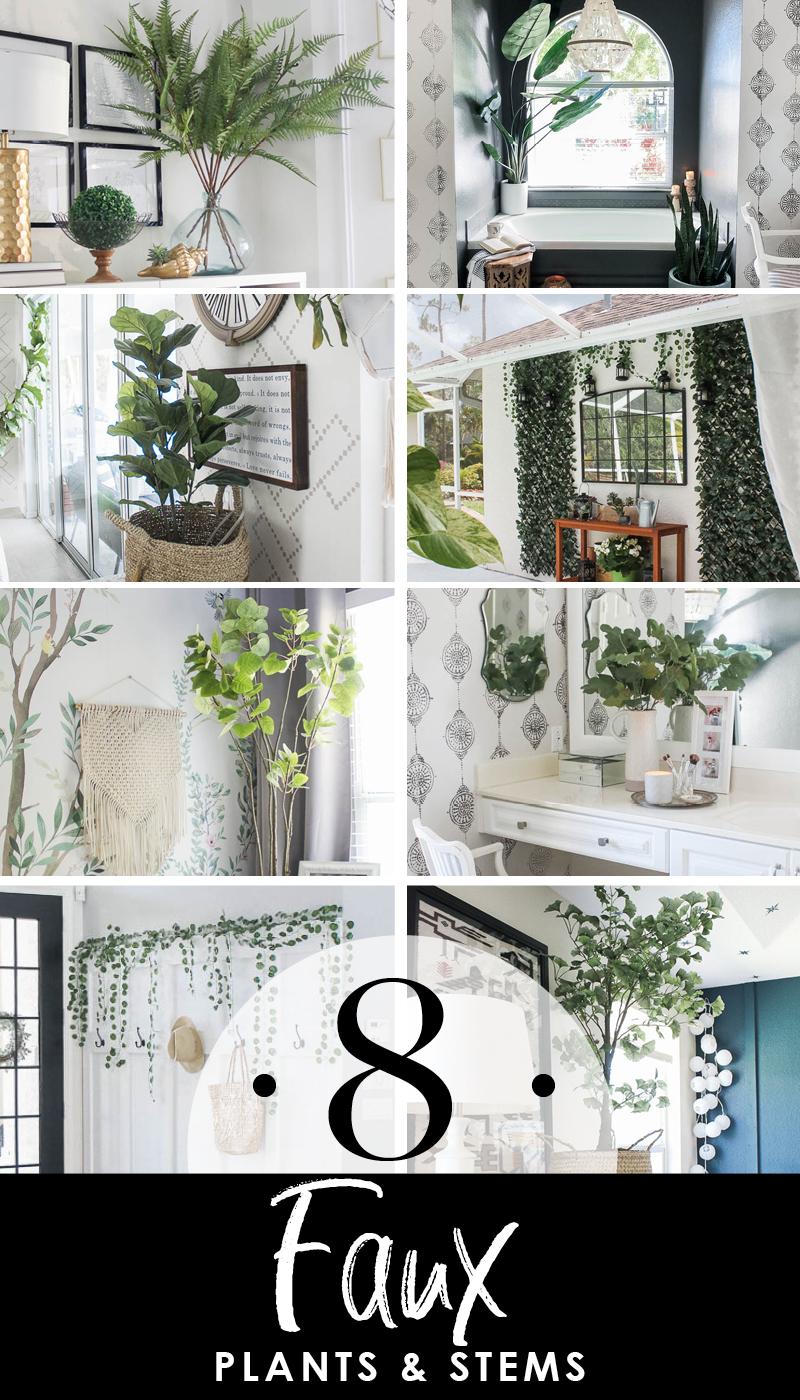 Favorite 8 faux plants and artificial stems