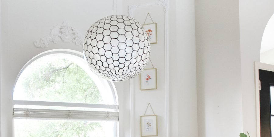 onlay crown moulding over window in reading nook