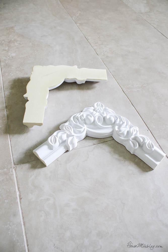 polyurathane moulding corner pieces