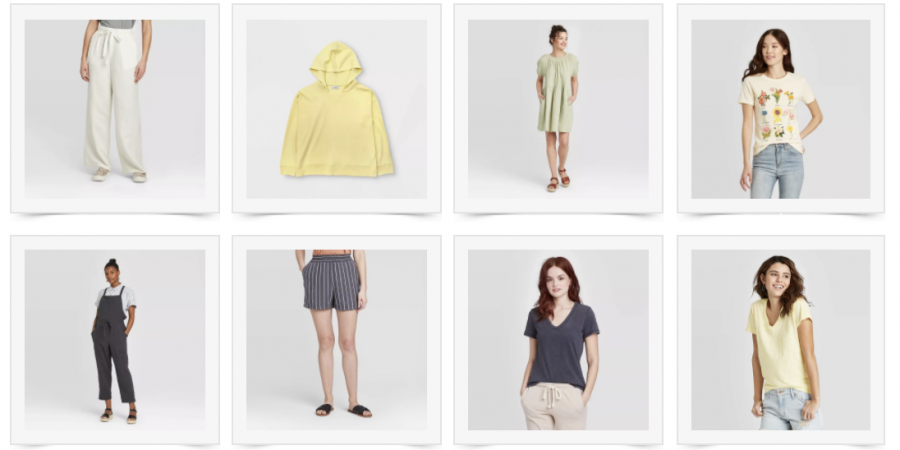 Yellow and green Target wardrobe capsule