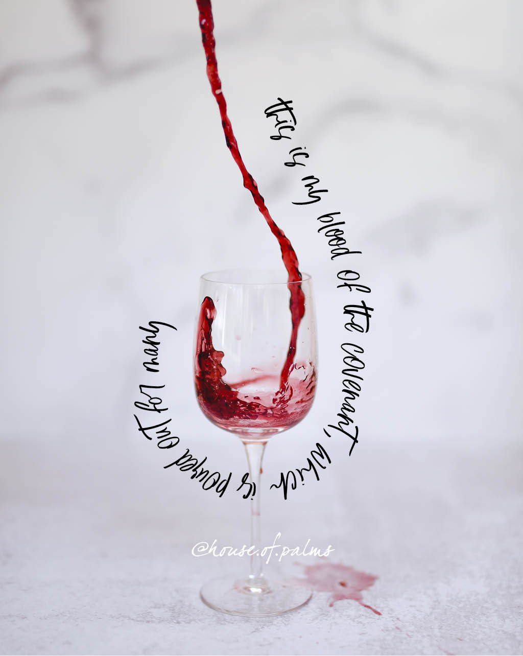 This is my blood poured out for many