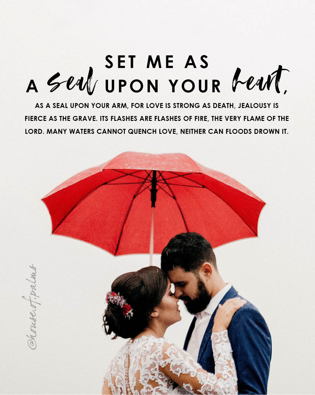 set me as a seal upon your heart - marriage and love verse