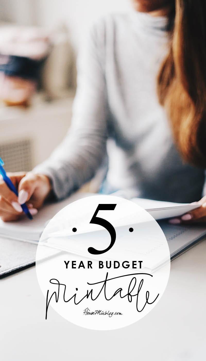 5 year budget planner printable