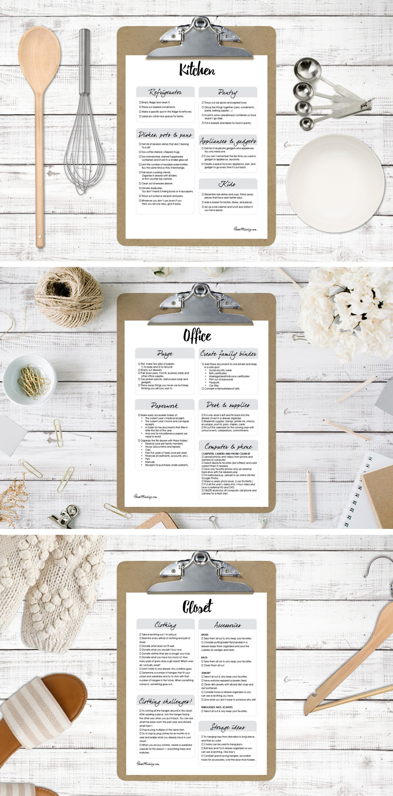 Ultimate organize house planner printables and checklists