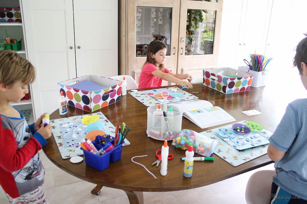 crafting station for summer kids