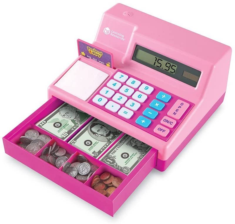 4 year old girl present ideas - cash register with play money