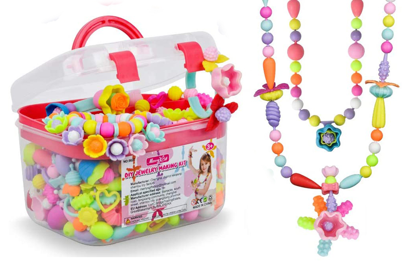 4 year old present ideas - pop snap beads jewelry crafts
