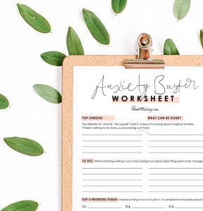 Anxiety buster worksheet - How to get rid of anxiety 3 ...