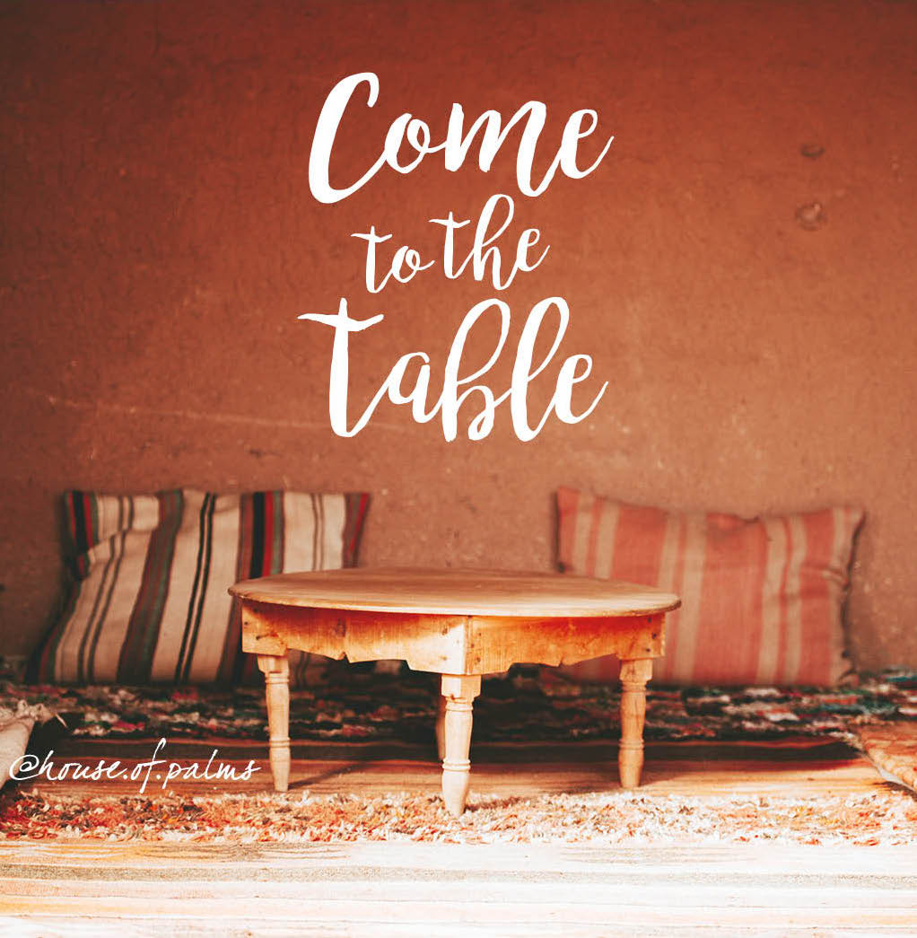 Come to the table. What happened at the Last Supper?