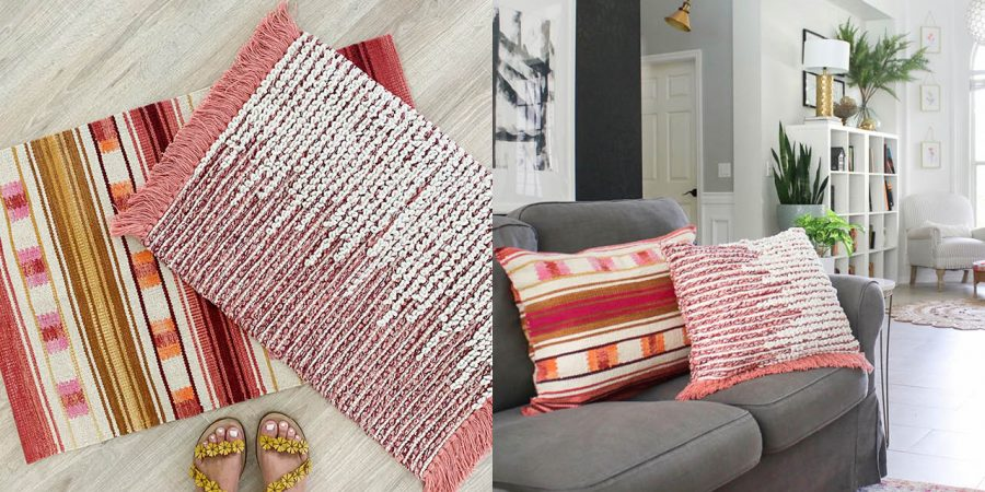 DIY rug pillows