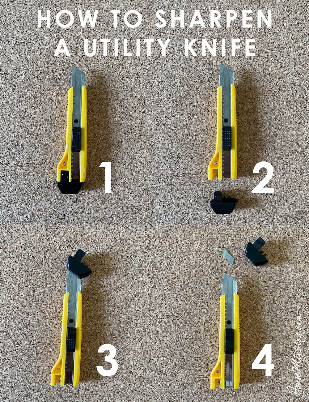 How to sharpen or break off a utility knife box cutter blade safely
