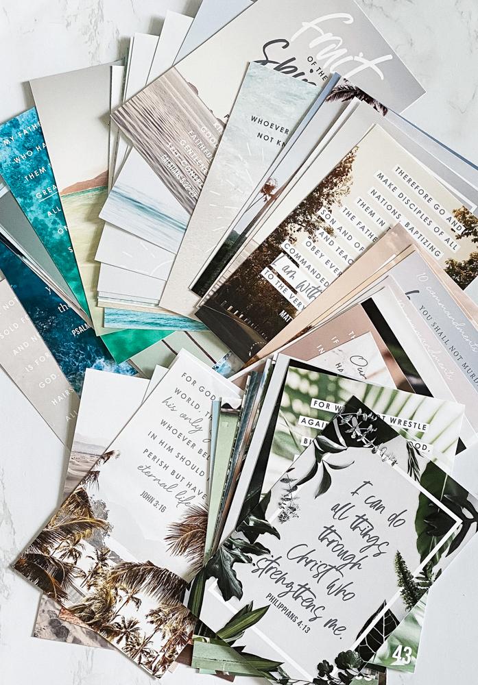 Free memory verse cards - scripture memorization - printable