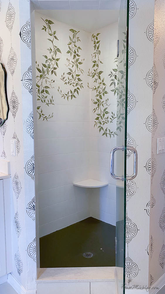 Can you paint a tile shower?