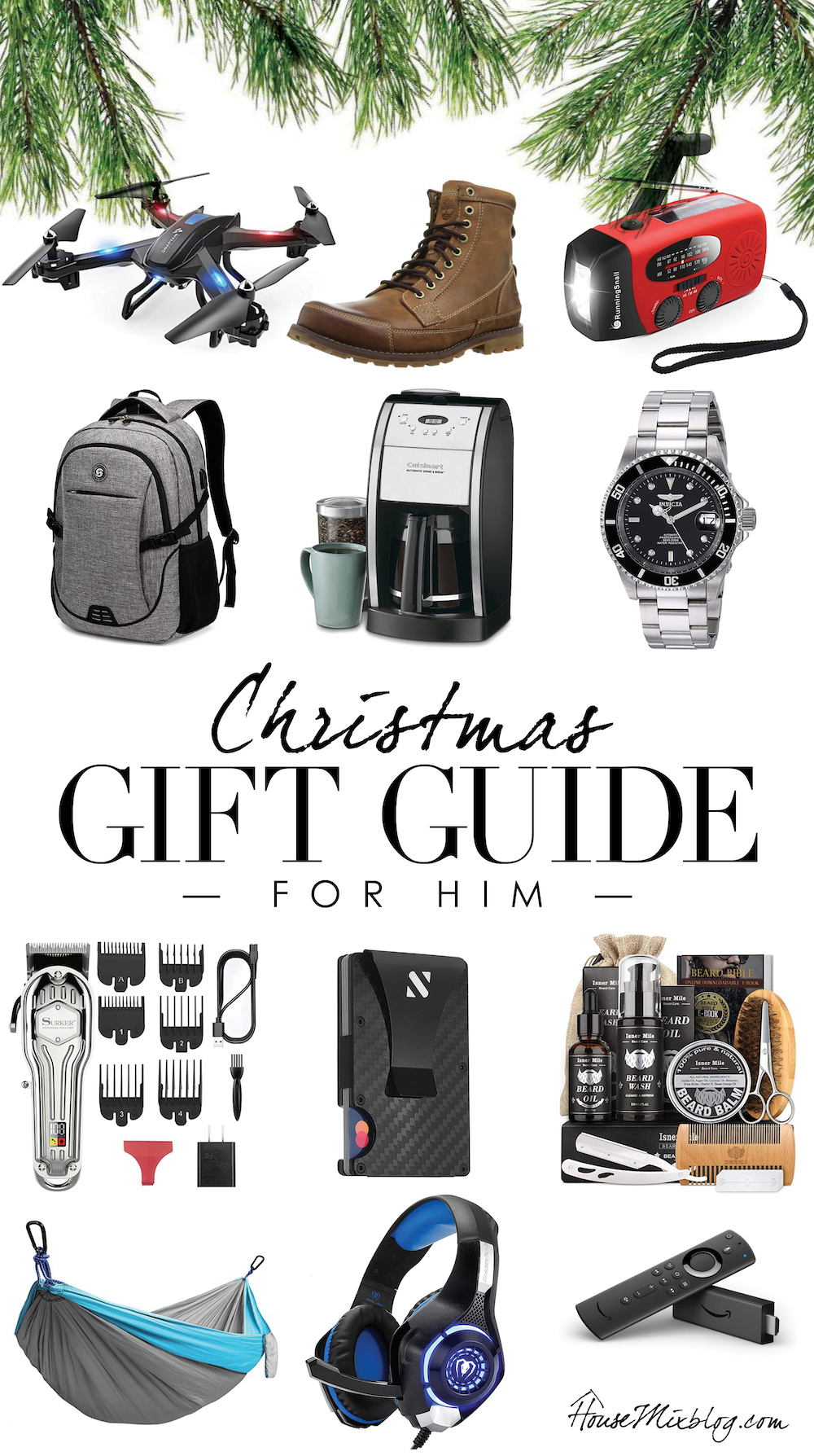 Christmas gift guide for him - husband, father in law, brother, men, dad