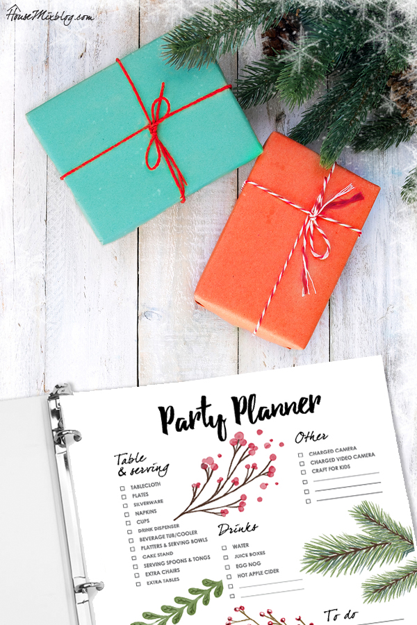 Christmas organizer - party planner