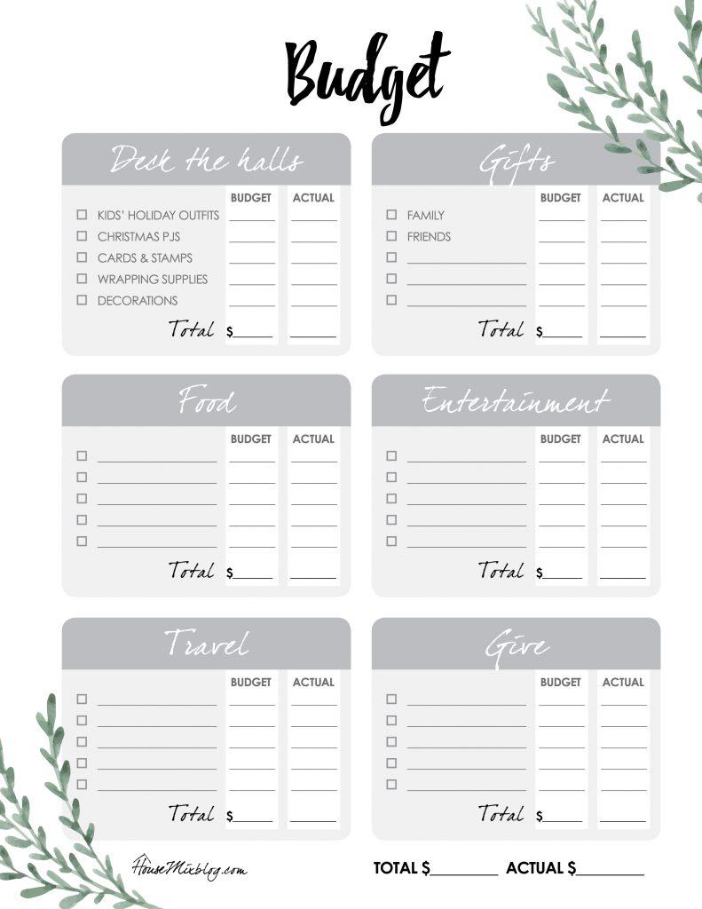 The Ultimate Christmas Planner budget checklist worksheet - housemixblog.com