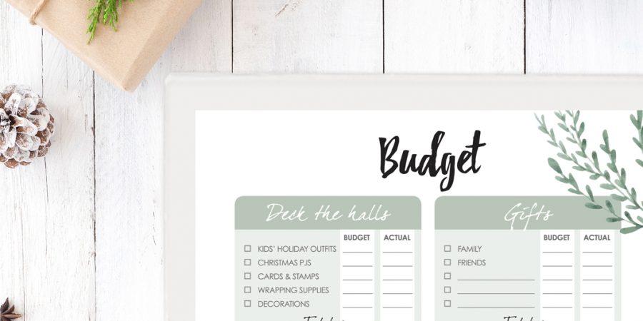 Ultimate Christmas planner budget printables