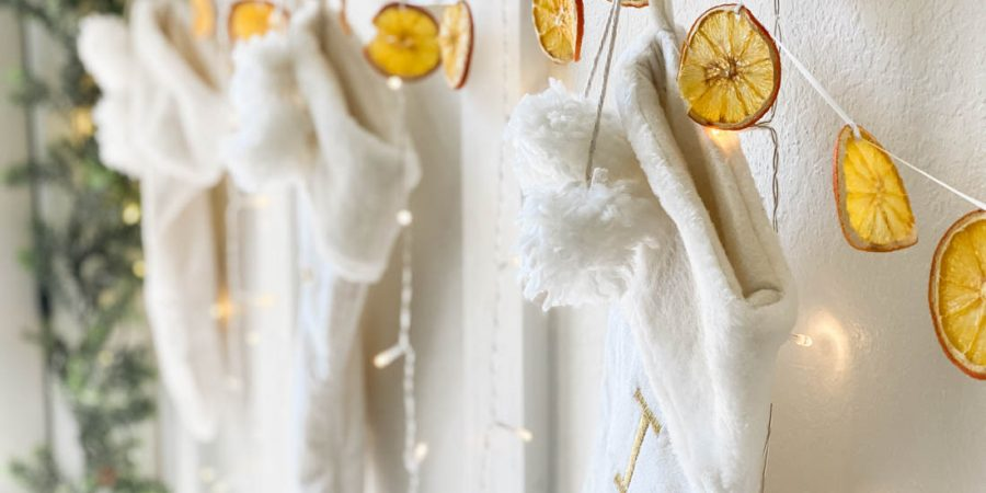 How to make dried orange garland - vintage Christmas ideas